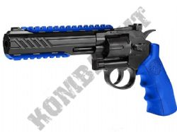 801BX BB Gun Magnum Revolver Replica Co2 Powered Metal Airsoft BB Gun 2 Tone Blue Black